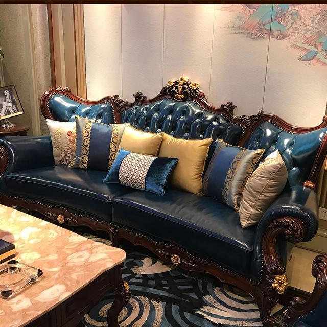 High End Leather Sofa: Jinyufang European Style High End Luxury Sofa Combination