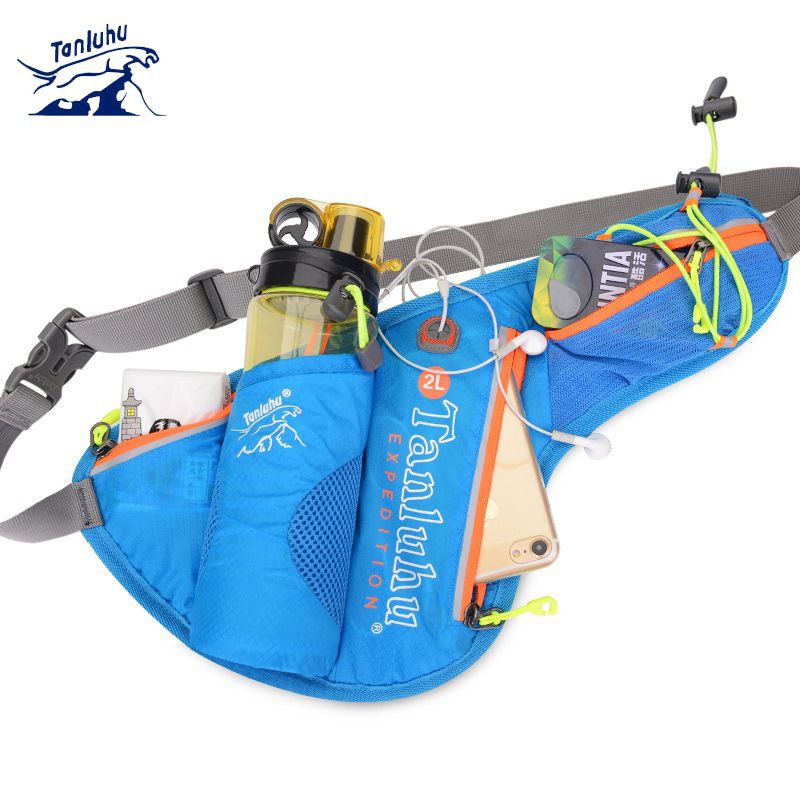 TANLUHU 371 Men Women Water-resistant Running Jogging Cycling Marathon Climbing Sports Waist Bag Water Bag