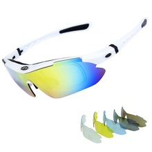 цены на Polarized Cycling Eyewear Glasses Outdoor Sports Bicycle Glasses Men Women Bike Sunglasses Goggles Eyewear Ciclismo 5 Lens  в интернет-магазинах