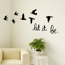new arrival black flying birds wall sticker for kids rooms decals poster wallpaper 8547 living room bedroom home decor