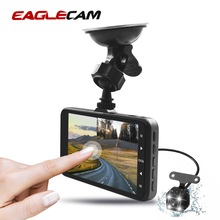 Car DVR Camera 4 Inch Touch Screen Full HD 1080P Video Recorder Loop Recording Night Vision Dual Lens DashCam