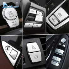 Airspeed Chrome Auto Knop Covers Stickers Auto Interieur Accessoires voor BMW F10 F07 F06 F20 F30 F32 F01 F02 F25 f26 Auto Styling(China)