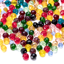 4 6 8mm Czech Mixed Color Faceted Round Glass Beads to Make Jewelry Supplies Women Perles Diy Spacer Crystal Beads Wholesale Z3 1box mixed style round glass pearl beads mixed color crafts jewelry diy maker supplies hot sale