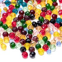 4 6 8mm Tschechische Gemischte Farbe Faceted Runde Glas Perlen zu Machen Schmuck Liefert Frauen Perles Diy Spacer Kristall perlen Großhandel Z3