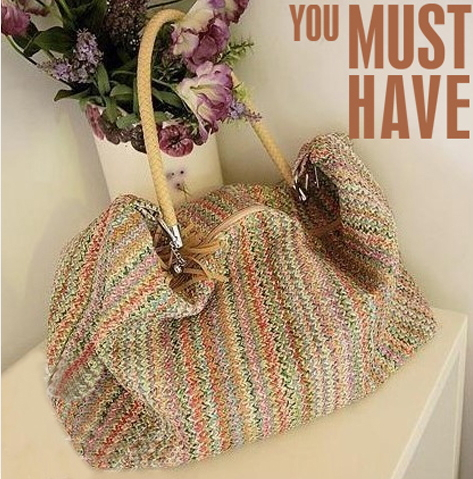 2015 New Designer Shoulder Bag Large Capacity Vintage Knitting ...