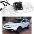 1 pcs LED Car Rear View Invertendo Estacionamento Câmera À Prova D' Água com placa de licença Para Honda CRV 2008