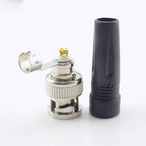 Image 5 - Connecteur BNC mâle, 10 pièces, adaptateur à prise mâle, câble Coaxial RG59 Twist on, connecteur vidéo/AUDIO pour caméra CCTV