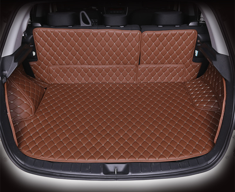 ФОТО All surround car trunk mat for Mitsubishi ASX 3D TPE+XPE Anti-slip leather trunk pad Customized  floor mat 3D car style