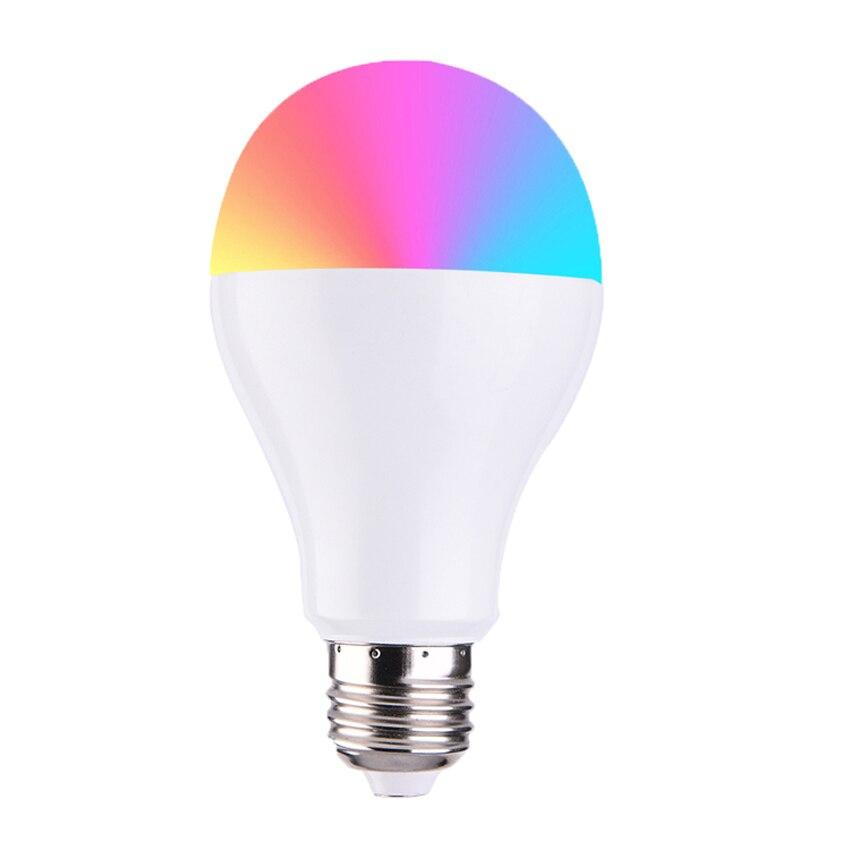 Smart Light Ampoules APP Télécommande LED Smart WIFI Ampoule LED Réglage des Couleurs Connecter pour Amazon Alexa Google maison E27E22E14 b22