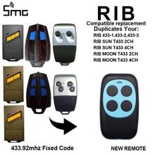 Rib sun T433 2CH T433 4CH rib moon T433 2CH T433 4CH 1 1/2 controles remotos para clone, 433 433 2 código fixo da substituição 433.92mhz