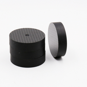 Image 2 - 8pcs Hifi audio  40mmX10mm Brancd New carbon Fiber Speaker Isolator Spike pad stand nase  Amp cone speaker pad