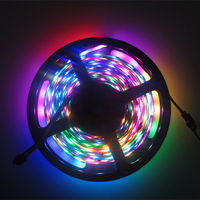 Fast Shipping 5M WS2801 RGB IP67 Waterproof 48 LEDs 16 Pixels M 5050 SMD RGB LED