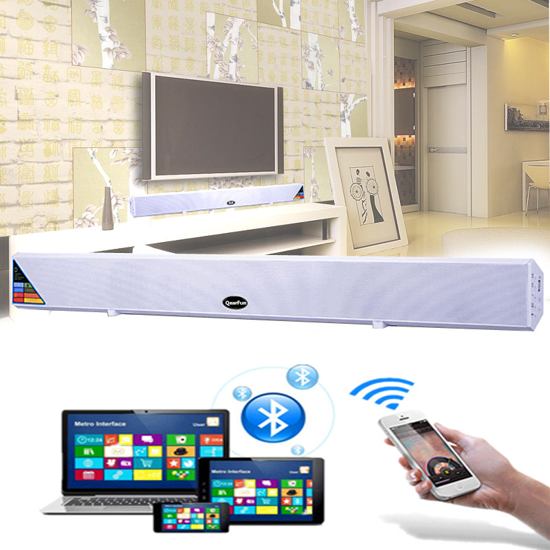 Bluetooth TV Sound Bar Home Theater System Surround Sound HI-FI Wireless Wall Big Speaker Subwoofer For TV Mobile Phone Computer stereo mobile phone system waterproof for shower 10w bt4 0 super bass hi fi hands bluetooth speaker