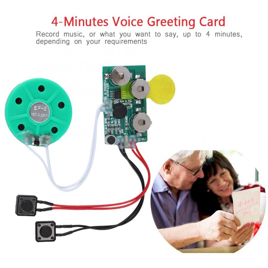 Radio Am Fm Digital Radio Receiver DIY Greeting Card Chip 4 Minutes Recordable Voice Sound Chip Voice Greeting Card