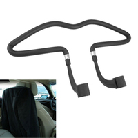 TOYL Car Auto Seat Black Rubber Coated Clothes Jacket Hanger