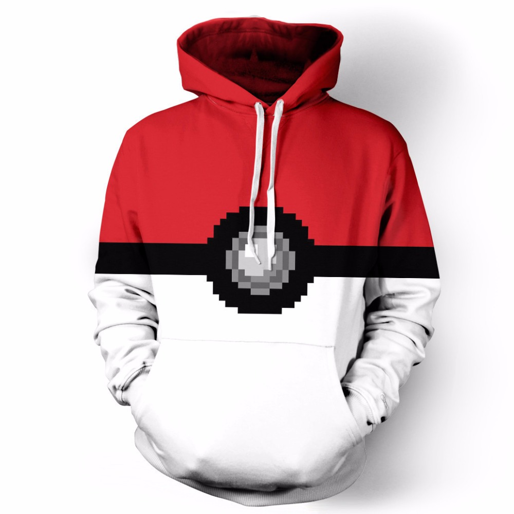 Onseme funny Pokemon Storage box Print Cartoon Classic fashion men women pocket Hoodie 3D Leisure Harajuku winter tops CHO-027
