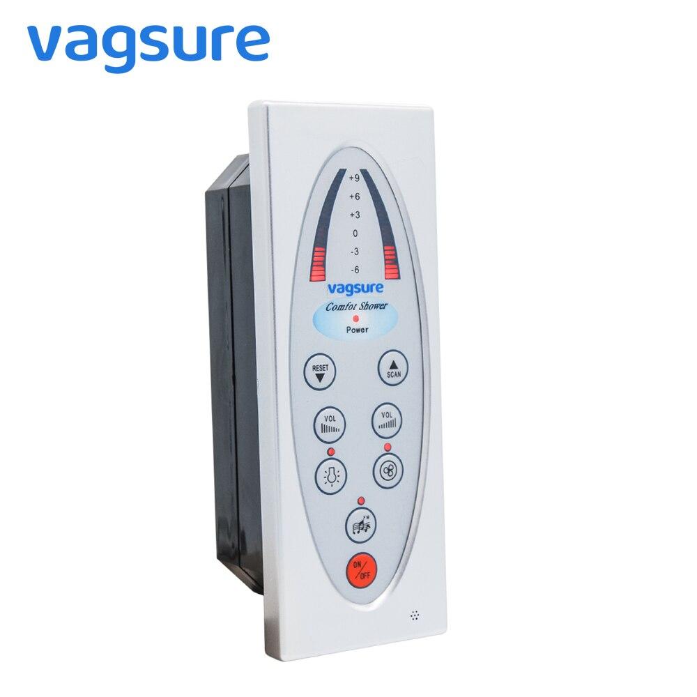 Rectangle simple offre spéciale douche FM Radio panneau de commande pour salle de douche accessoire haut-parleur de douche, ventilateur de ventilation éclairage de douche