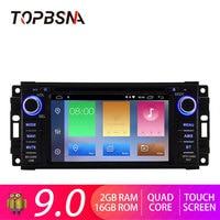 TOPBSNA Android 9.0 Car DVD Player For JEEP Wrangler Compass Grand Cherokee Commander Dodge GPS Navi 1 Din Car Radio Stereo WIFI