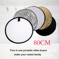 New 32 80cm 5 In 1 Portable Collapsible Light Round Photography Photo Reflector For Studio With