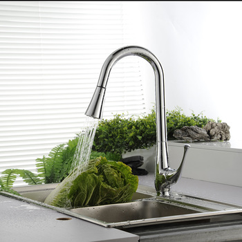 BECOLA Cold hot water kitchen faucet Spring pull type kitchen faucet The vase is a sink to wash the dishes free shipping LH-8117