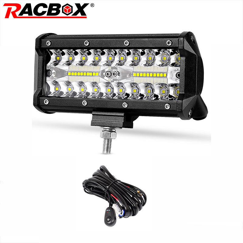 7 Inch Offroad LED Light Bar Combo Beam Spotlight LED Work Light For Truck Tractor UAZ ATV SUV 4x4 Auto Headlight Fog Light 12V 11 60w led work light bar for atv 4x4 combo led offroad light bar tractor offroad fog light work light seckill 36w 72w