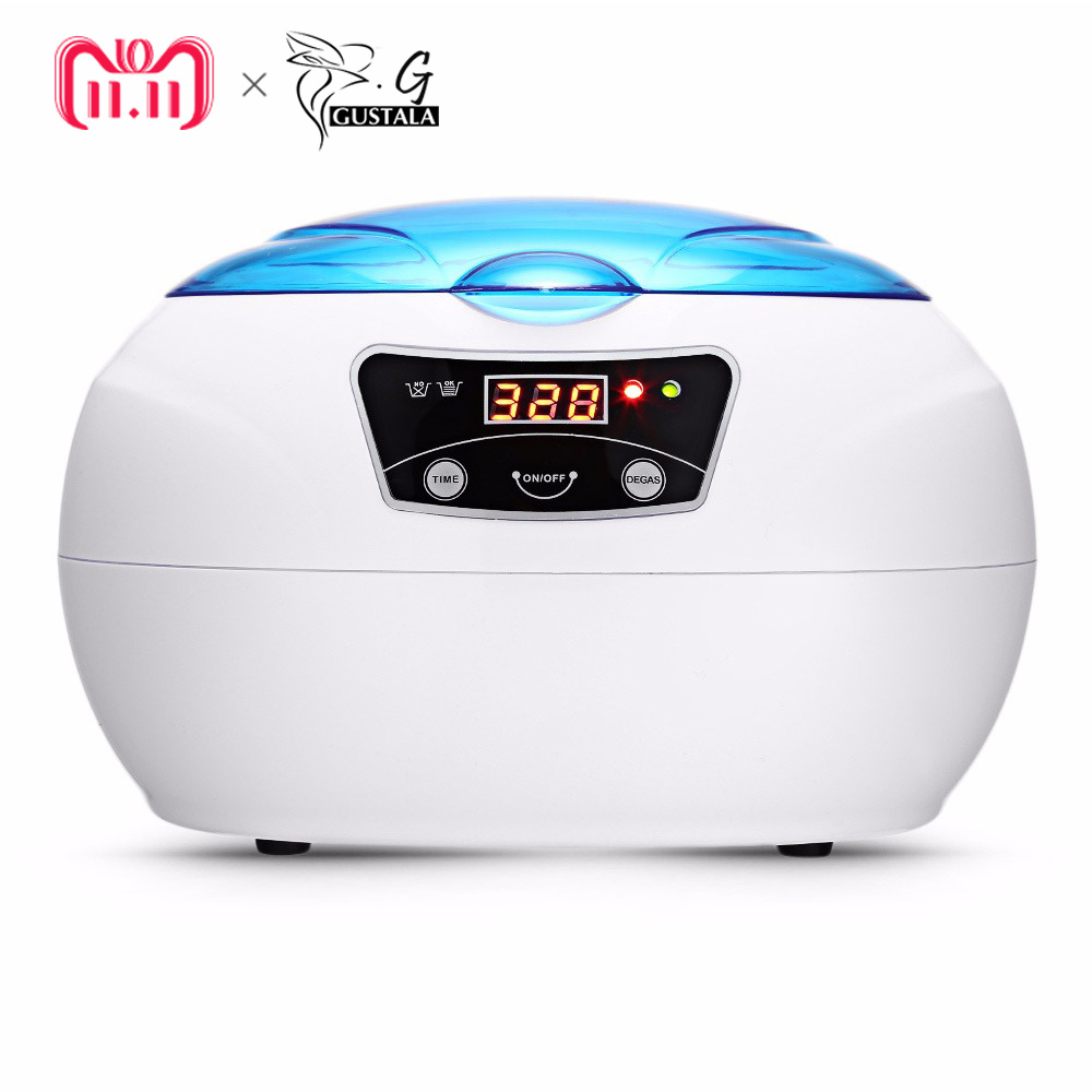 Gustala 600 ml Pro Ultraschall Reiniger Ultraschall Generator Nagel Maniküre Werkzeuge Tragbare Ultraschall Waschen Reinigung Maschine