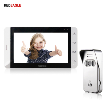 REDEAGLE Home Video door phone Doorbell intercom system 7 inch Touch Screen 700TVL IR Night Vision doorphone Camera jeruan home wired 7 inch lcd video door phone entry intercom system kit waterproof 700tvl rfid access ir night vision camera