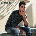 2016 Recién Llegado de SIMWOOD Ropa de Marca Suéter de Los Hombres de Moda Slim Fit Casual Suéter de Punto Envío Gratis