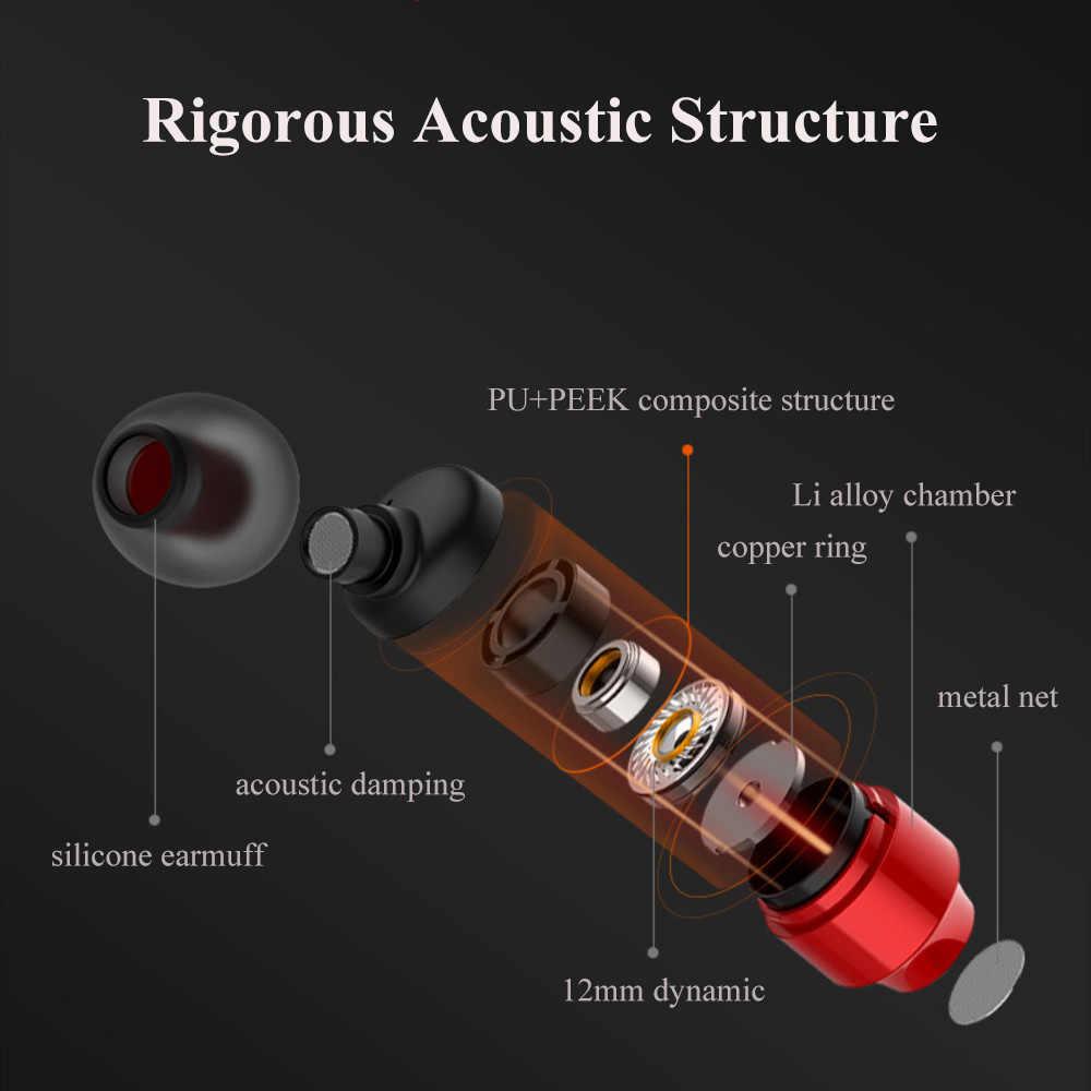 Przewodowa słuchawka hi-fi z mikrofonem w słuchawki douszne czerwona czarna srebrna róża złoto dla iPhone xiaomi Samsung HIFI słuchawki magnetyczne