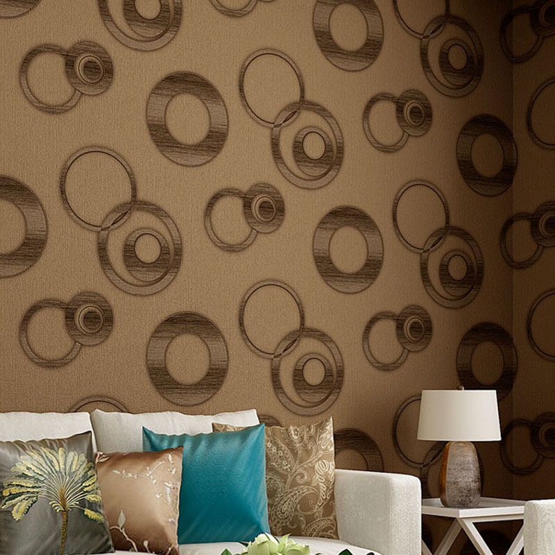New Modern Luxury Circle Design PVC 3D Wallpaper Stereoscopic Mural Wallpapers Home Decor Papel De Parede Wall Paper LY011 In From