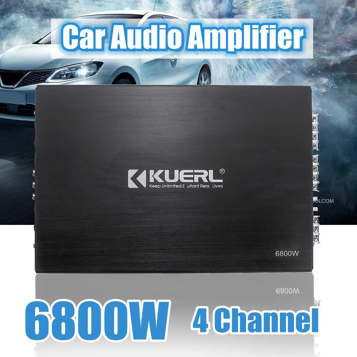 CLAITE 6800W 4-канальный автомобильный аудио усилитель DC 12V стерео усилитель Авто аудио усилитель мощности