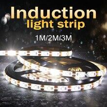 LED Cabinet Light PIR Sensor Motion Led Strip Closet Bed Wardrobe Lamp Tape 1M 2M 3M Waterproof Tiras Desktop Screen