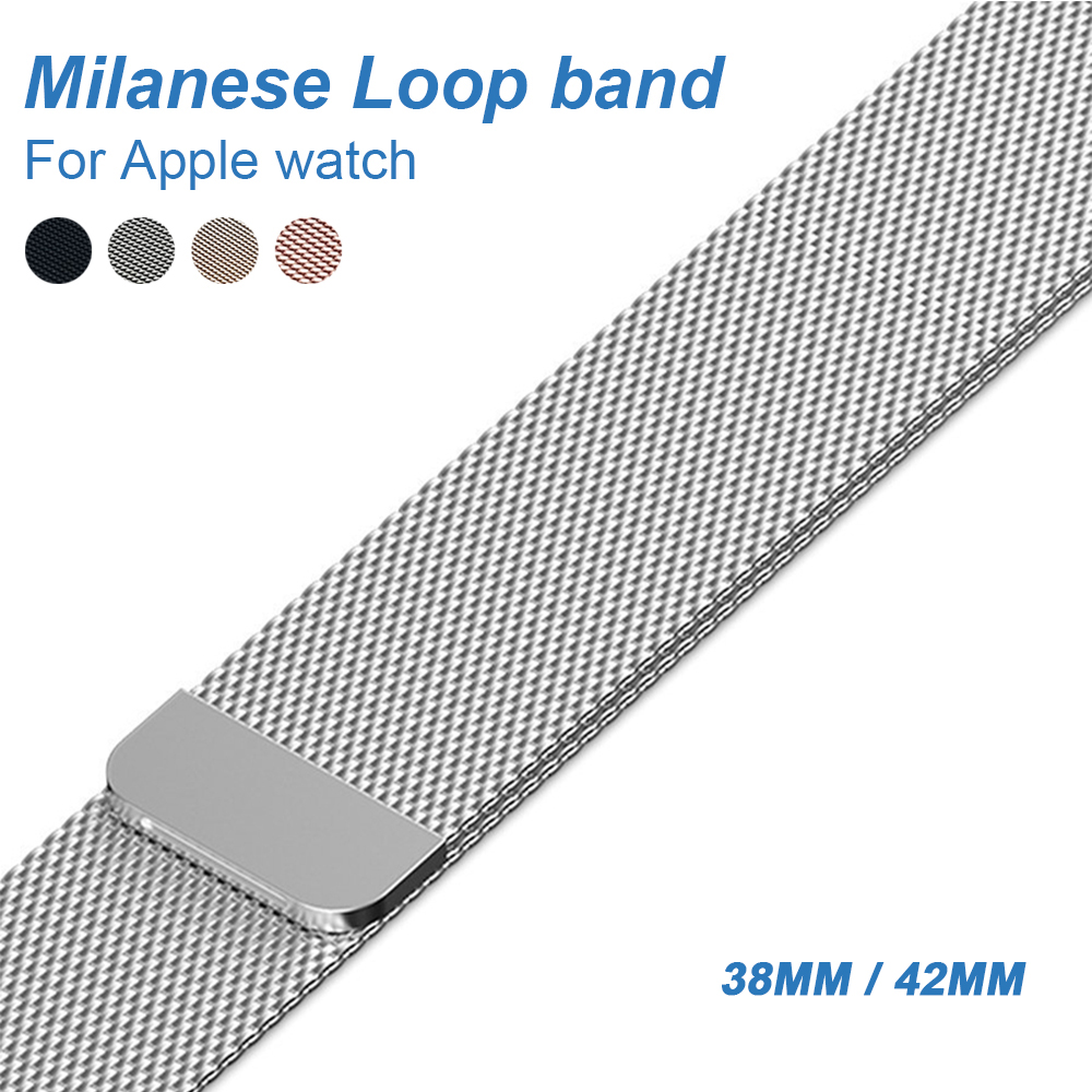 Milanese Loop Bracelet Stainless Steel band For Apple Watch series 1/2/3/4 42mm 38mm 40mm 44mm Bracelet strap for iwatch series stainless steel milanese loop band for iwatch strap 42mm 38mm for apple watch band series 3 2 1