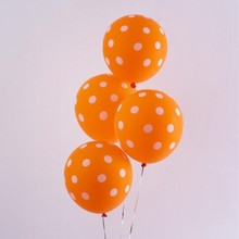 2019 baloons 50pcs/lot12 inch Round latex orange wave point balloon baby birthday party globos wedding decoration supplies