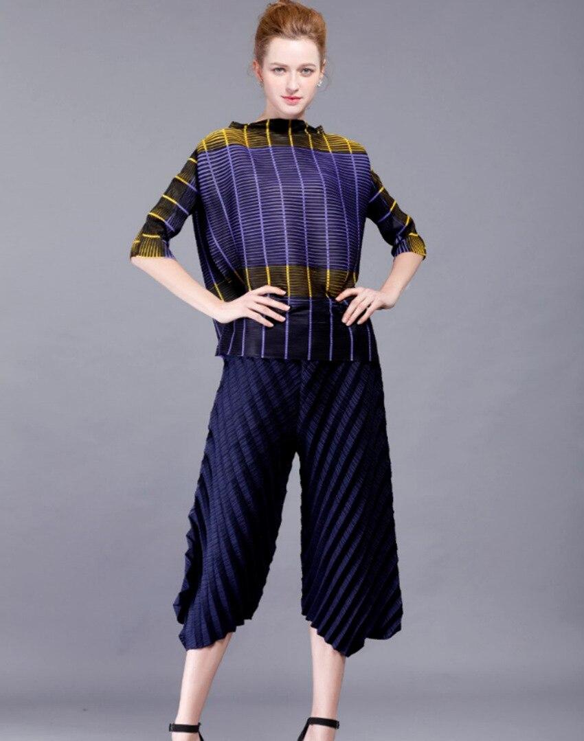 Col O Casual Pour Roulé À Manches Plissée Nouveau Couleur rouge Bande Lady Bleu Shirts Design 2017 cou EDYeI2WH9