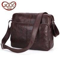 New men's cross section square Messenger bag bulk shoulder bag leather business computer bag oil wax leather briefcase