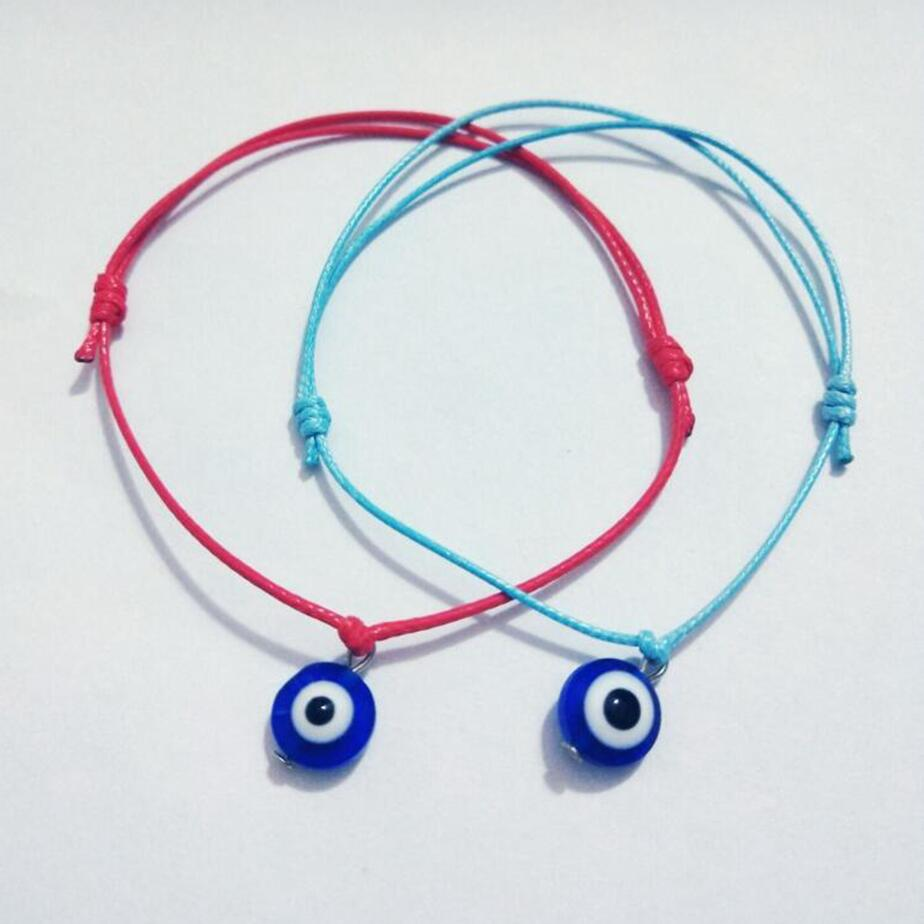 a6c68a697a8dc New Fashion Red/Blue Evil eye KABBALAH HAND Made Adjustable Sky Blue String  Bracelet EVIL Jewelry Kabala Good Luck Bracelet Q14-in Charm Bracelets ...