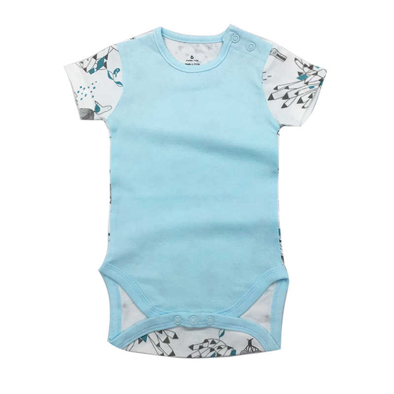 100% CottonBaby Bodysuit Infant Jumpsuit Overall Short Sleeve Body Suit Newborn Boy Girl Clothing Set Summer 6-24M