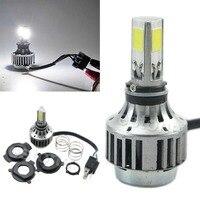 32W 3000LM COB LED Hi Lo Beam H4 Motorcycle Headlight Front Light Bulb Lamp NEW