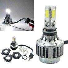 1Pc 32W 3000LM COB LED Hi/Lo Beam H4 Motorcycle Headlight Front Light Bulb Lamp NEW