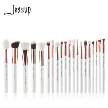 Jessup brushes Pearl White/ Rose Gold Professional Makeup Brushes Set Make up Brush Tools Foundation Powder Cosmetic Beauty - DISCOUNT ITEM  15% OFF All Category