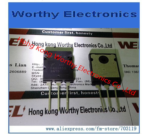 무료 배송 10 개/몫 FGL60N100BNTD G60N100 IGBT 1000V 60A 180W TO264 image