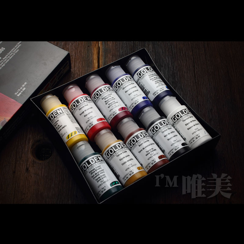 Free shipping The United States Gordon gold liquid acrylic paint set liquidity spray techniques in 10 bottles of propylene world music pedagogy in the united states middle school