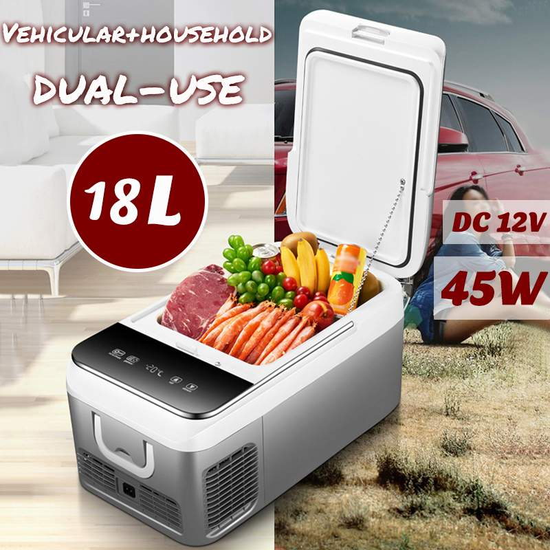 DC 12V 240V Car Refrigerator Freezer Cooler 18L Car Fridge Compressor For Car Home Picnic Refrigeration Freezer -20~10 Degrees(China)