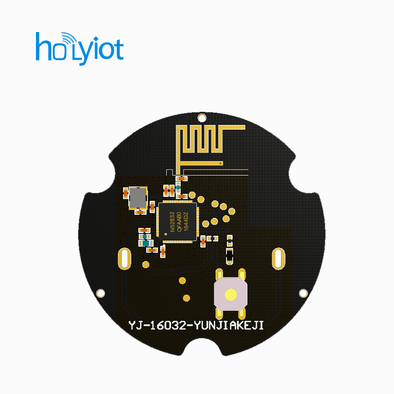 US $12 0 |2017 wholesale small size nrf52832 module beacon ble bluetooth  4 0 GPIOs Button LED ibeacon tag prototype-in Home Automation Modules from