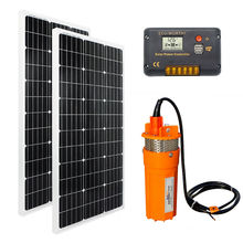 200W Solar Pump System DC 24V Deep Well Submersible Water Pump Off Grid System Kit