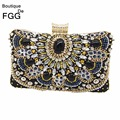 Black Beaded Sequined Diamond Bridal Wedding Purse Evening Clutch Bag Women Fashion Handbags Party Metal Beading Clutches Bags