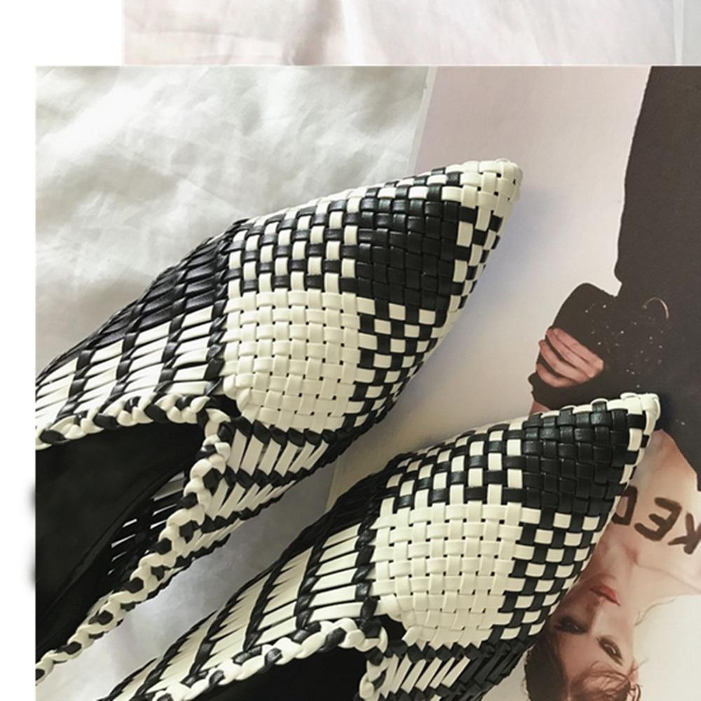 Scarpe Noble Chentel As Pelle on Donna Microfibra Pompa Estate Pecora Cave Signore 2018 Banda Fashion Stretta New Di Casual E Picture In Slip OqYr4Ydwxn