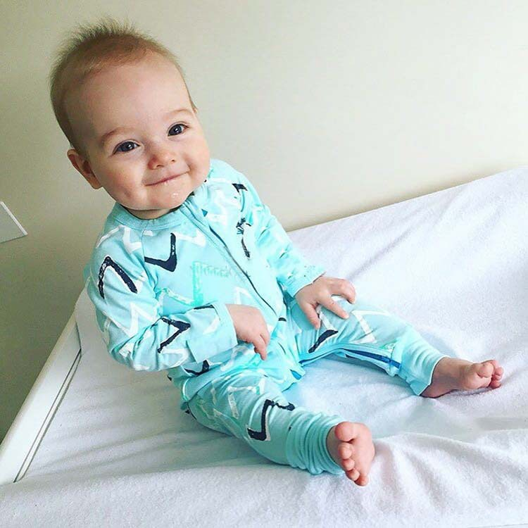 81e5a53da74c4 Menthe Vert Bande Footeed Couverture Printemps Automne Bébé Pyjama  Barboteuses Vêtements Pour Infantile Bébé Outwear Salopette d une Seule  pièce de ...
