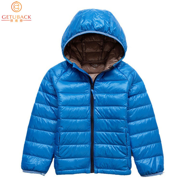 2017 Boys & Girls Down Jackets for Winter Brand Kids Thermal White Duck Down Coats Children Warm Outerwear Proof Cold, HC515
